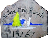 Exterior Signs in Stone and Metals for your Home or Ranch or Development