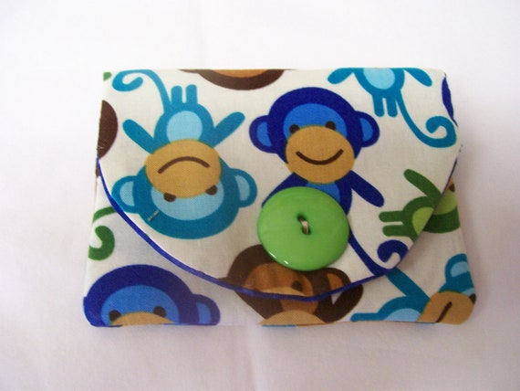 BUSINESS CARD Holder in MONKEY fabric