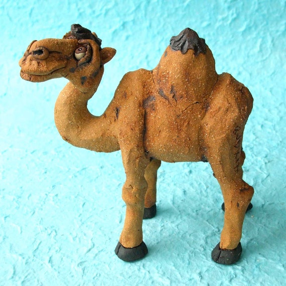 Whimsical Ceramic Camel Sculpture with Secret Compartment