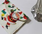 Holiday gift card holder - mini fabric wallet - Santa Claus