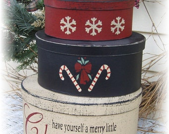 Have yourself a merry little Christmas primitive shaker style nesting boxes