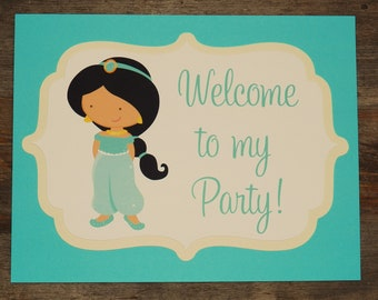 Party Sign - Customized Princess Party Decor by The Birthday House