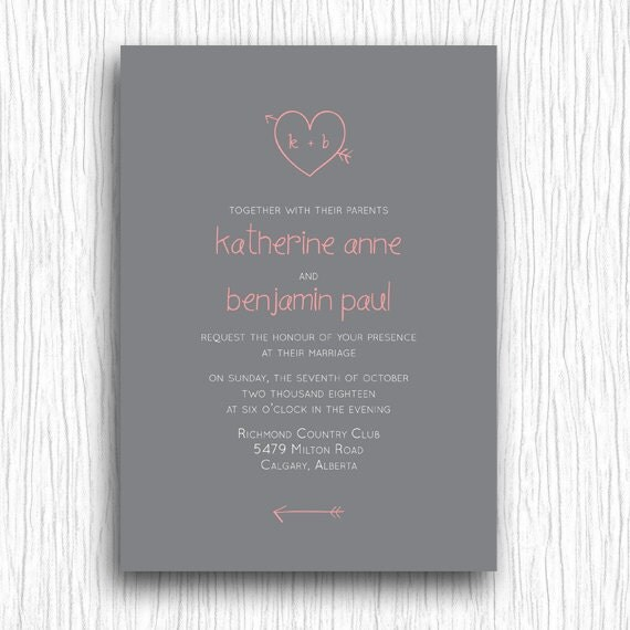 Items Similar To Printable Wedding Invitation