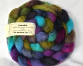 100g Fine Bluefaced Leicester Top Roving Spinning Felting - Jo Colourway