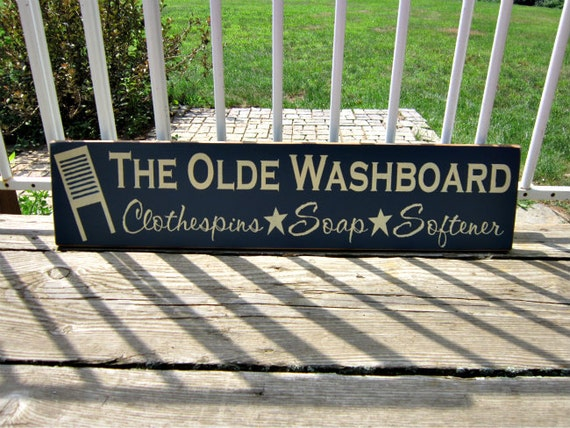 Wood Sign The Olde Washboard Clothespins Soap Softener