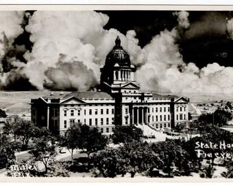 Pierre South Dakota State House Postcard Vintage Antique 1910's