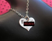 Small Heart, Fuck Necklace, I Fucking Love You, Fucking Heart Charm Necklace, Sterling Silver Heart Necklace, Silver Pendant, Mature