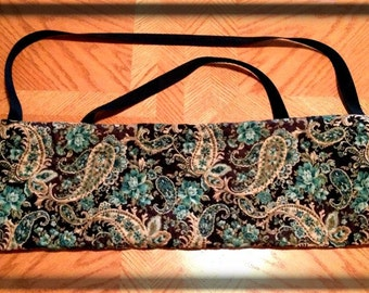 Yarn Swift Carrying Bag - Blue/Green Print