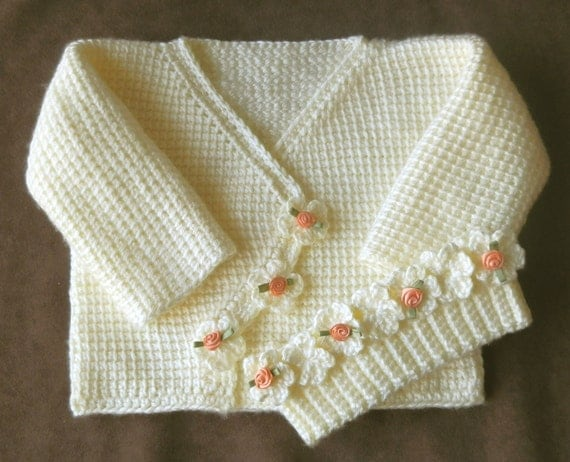 Baby Girl Sweater Set Crochet Pattern 12 Months By