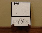 Mr. & Mrs., Bride and Groom Wedding Card