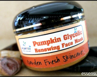 Best Pumpkin Glycolic Acid Vitamin Enzyme Renewal Ready Made Face Mask | Rejuvenates Dull Skin | Fights Blemishes , Oily Skin Tighten Pores