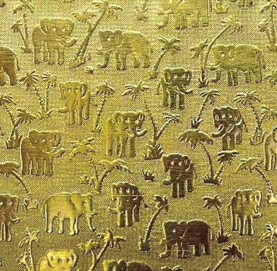 Brass Texture Plates - Elephant Pattern