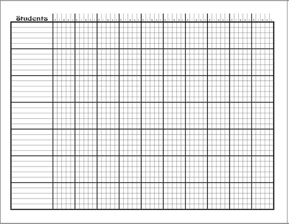 Add-On: Attendance Sheet Pages For Lesson Planner & Organizer