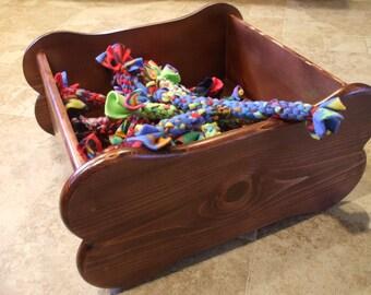 Dog Toy Box - Large Bone Shaped Wooden Toy Box - Dog Toy Storage - Dog Toy Bin