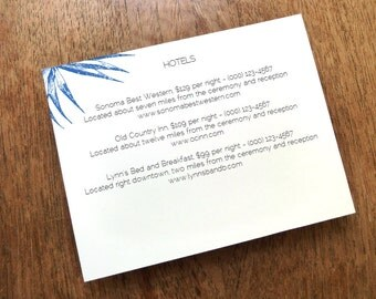 Printable Wedding Information Card - Palma - Printable Wedding Info Card - Directions - Hotel Information - Editable PDF