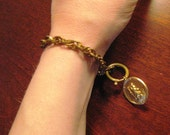 Antique St. Christopher Traveling Charm with Watch Chain