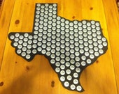 State of your choice bottle cap display holder, pick from the 48 states,   A9-14B