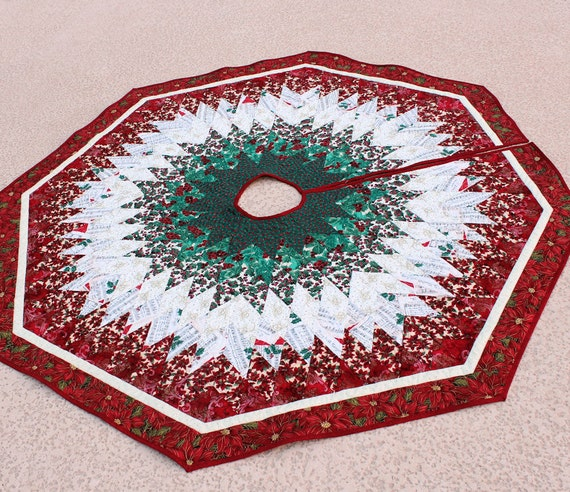 Diamonds Christmas Tree Skirt Quilt - 58 inches