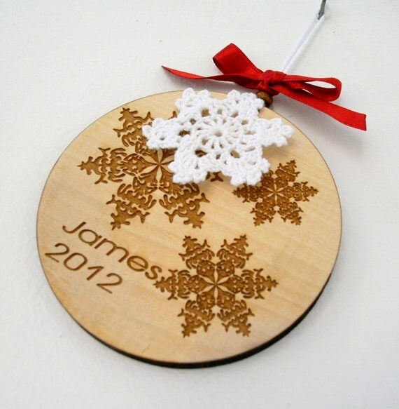 Items similar to Personalized Christmas Ornament, Wooden ...