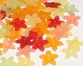 50 Acrylic Flower Beads Star Flower Beads Sweet and Sour Madness