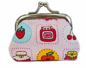 Tiny Kisslock Coin Purse - Things I Have For Breakfast