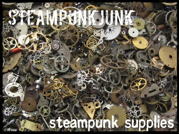 Vintage WATCH PARTS gears - Steampunk parts - C48 Listing is for all the watch parts seen in photos