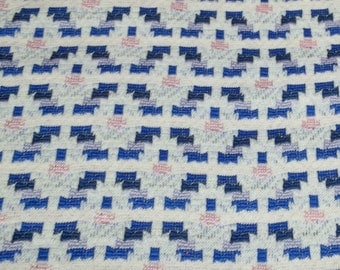 Vintage blue pink lilac geometric shapes fabric jersey stretch