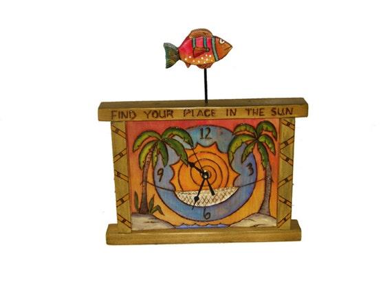 Mantle Clock/ Custom Made/Handmade/ Quartz clock/ shabby chic/ cottage chic
