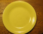 Yellow Fiesta Dinner Plate