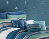 Anchor Wall Decals - set of 15 - Nautical decorations Vinyl Sailboat Anchor Stickers