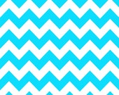 WINTER SALE - Medium Chevron Stripe in Neon Blue - C320-100 - 1 Yard - Riley Blake Designs