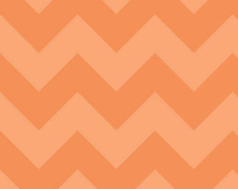 SPRING SALE  - Large Chevron Stripe in Tonal Orange - sku C390 61 - 1 Yard -  by Riley Blake Designs