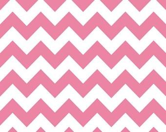 SPRING SALE - 1 5/8 - Medium Chevron Stripe in Hot Pink - C320-70 - Riley Blake Designs
