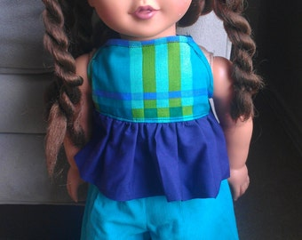 18inch Doll Aqua and Purple Outfit