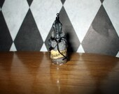 Gothic Witch Spiderweb spell bottle dollhouse miniature halloween charm