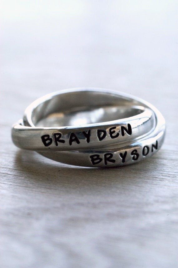 Double Band Custom Stamped Ring