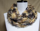 Neckwarmer in Black, White, Brown and Tawny Gold Animal Print Faux Fur - Ready To Ship Women's Neckwarmer Girl's Scarf Women's Cowl
