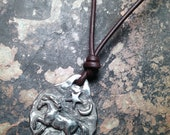 Leather Starry Night Horse Charm Necklace