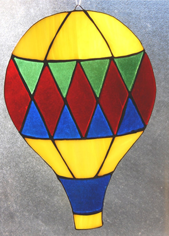 STAINED GLASS Argyle Hot Air Balloon