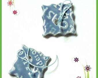 Buttons Two Handmade Stoneware Buttons