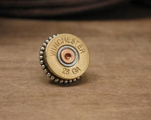 Bullet Jewelry - Gift for Man - Authentic Winchester 28 Gauge Shotgun Casing Tie Tack / Lapel Pin / Purse or Hat Pin  - Groomsmen Gifts