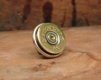 Shotgun Casing Jewelry - Bullet Jewelry - Gift for Man - 20 Gauge Shotgun Casing Tie Tack / Lapel Pin / Purse/Hat Pin  - Groomsmen Gifts