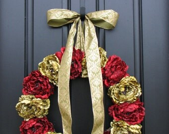 CHRISTMAS SALE Holiday Wreaths, Christmas Decor, Wreaths, Front Door Wreaths, Traditional Decor, Classic Christmas