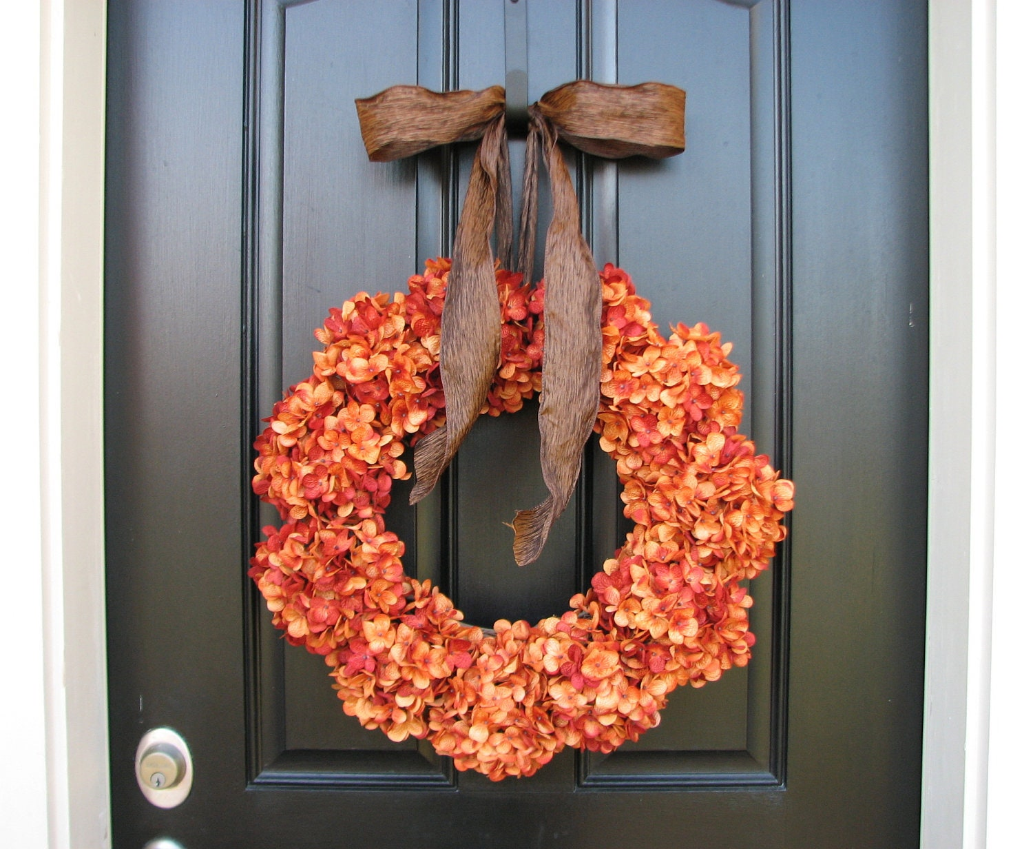 Wreath orange pumpkins pumpkin patch fall wreaths fall Fall autumn door wreaths