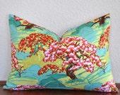 Amy Butler Cameo Spring Beauty and Ticking  Lumbar Pillow Cover