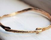 14k Gold Filled Chevron Bar bracelet - OAK