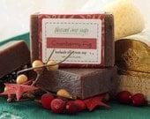 Cranberry Fig Goat's Milk Soap Cold-Process Bar