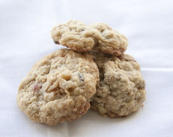 Cranberry Walnut Oatmeal Cookies - 2 dozen homemade cookies