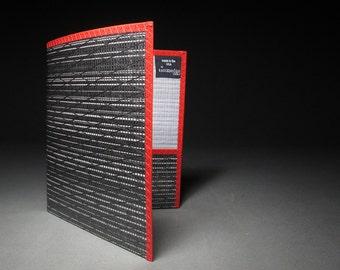 Carbon Fiber Presentation Folder - Black, White and Red