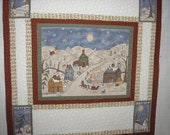 """Quilt Kit """"Two Many Men"""" Snowman Jacqueline Paton Wall Hanging 46"""" x 49"""" Borders Pre-Cut Red Rooster Fabrics"""